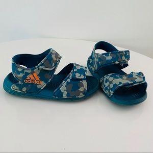 Kids adidas blue camo water sandals